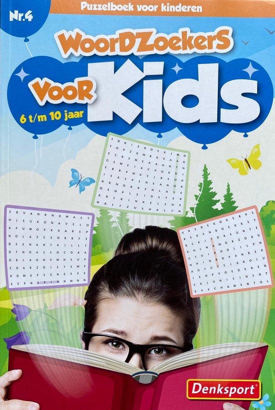 Afbeelding van Denksport | Nr.4 Woordzoekers voor kinderen 6-10 jaar | Denksport junior | Puzzelboek | Kleurboek | Tekenen | Stiften | Puzzels kinderen | Puzzelboek kinderen | Puzzel | Puzzelboekje | Denksport puzzelboekjes | Woordzoeker