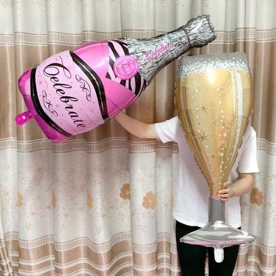 Folieballon Roze Let