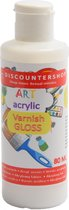 Acrylvernis 80ML - Glanzende vernis - Transparant - Gloss - Acrylic varnish Gloss