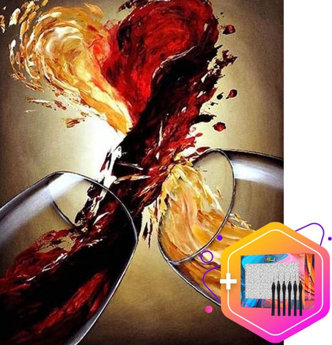 Pcasso ® Cheers - Schilderen Op Nummer - Incl. 6 Ergonomische Penselen & Geschenkverpakking - Schilderen Op Nummer Volwassenen - Schilderen Op Nummer Dieren - Kleuren Op Nummer - 40x50 cm - Professionele 26-Delige Set