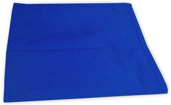 I2T Theedoeken 50x70 cm - Set van 8 - Royaal blauw - 210 gr/m²