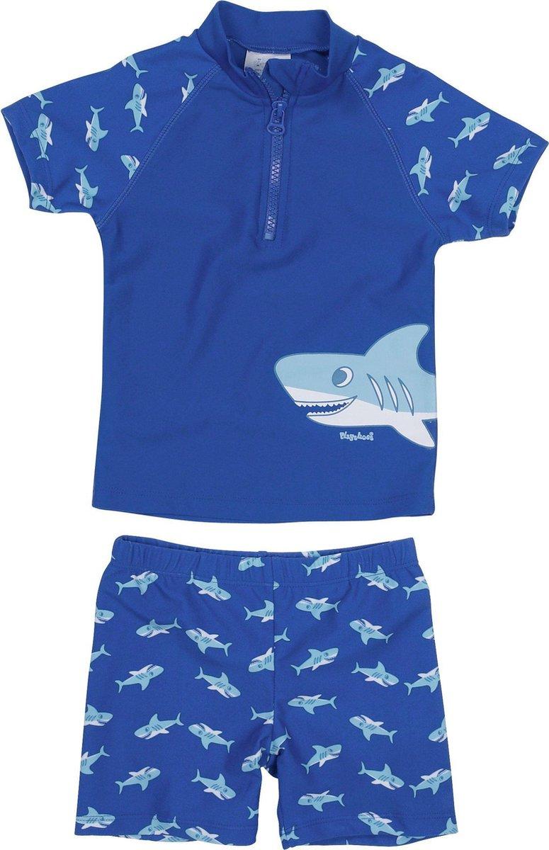 Playshoes UV-zwemsetje Kinderen Shark - Blauw - maat 122/128
