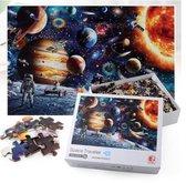 Mini Puzzel met poster - Astronauten en Planeten - 1000 stukjes - Ruimte/Space
