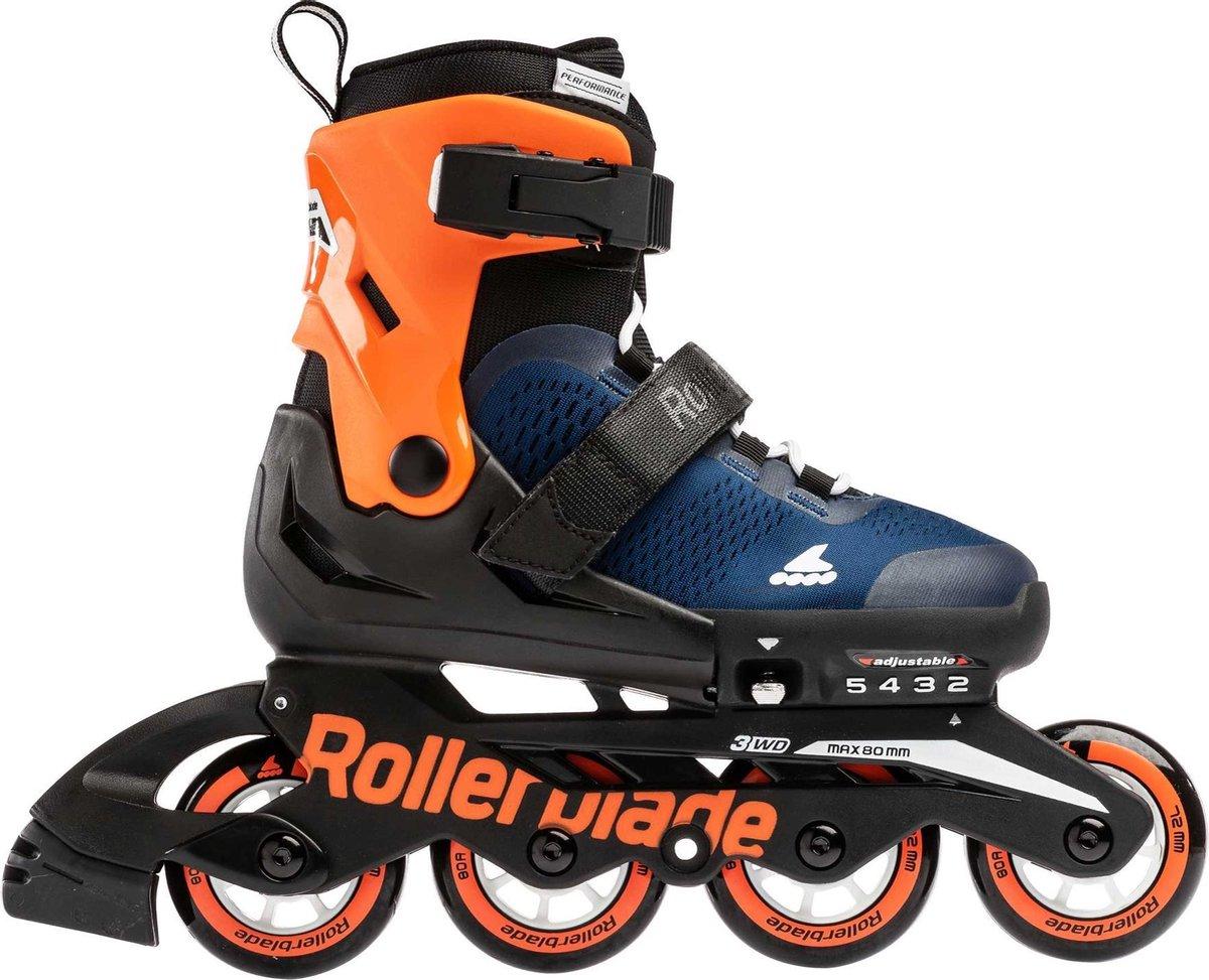 Rollerblade Inlineskates - Maat 33-36 - Unisex - zwart/oranje/donker blauw