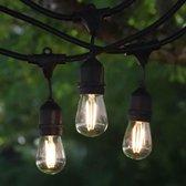 LED Feestverlichting - Waterdicht - lichtsnoer - 7meter - Warm Wit - incl 10 lampen - Voor Binnen en Buiten