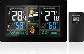 5. YONO Weerstation Binnen en Buiten WS300 – Draadloos met Buitensensor - Hygrometer – Barometer - Maanstand – Datum en Tijd – Wekker – 60 Meter Bereik - Zwart