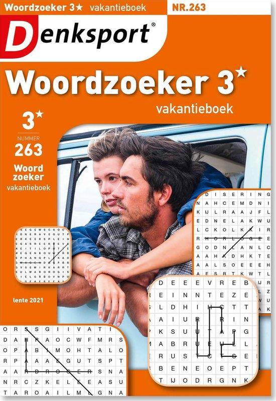 Afbeelding van Denksport Puzzelboek Woordzoeker 3* vakantieboek, editie 263