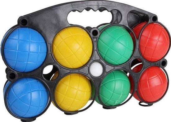 Hot sports Jeu de boules set kunststof 8 ballen in houder