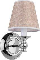 Van Heck wandlamp 16x27cm met LED verlichting 4 watt chroom