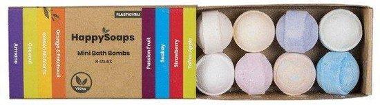 Happy Soaps - Mini Bath Bombs – Tropical Fruits-8 stuks