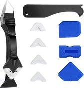 3 in 1 Kit Schraper - Kit Tool - Kit Spatel - Siliconen Verwijderaar - Kit Mes - Kit verwijderen - Kitschraper - Kit Afwerking- Complete Set - Afstrijkrubbers Tijdelijk Gratis -