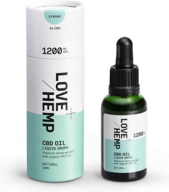 Love Hemp CBD olie 30ml - 1200mg (4%) CBD