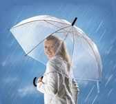 Paraplu transparant extra groot