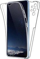 Samsung A32 5G Hoesje en Screen Protector in 1 - Samsung Galaxy A32 5G Case 360 graden Transparant
