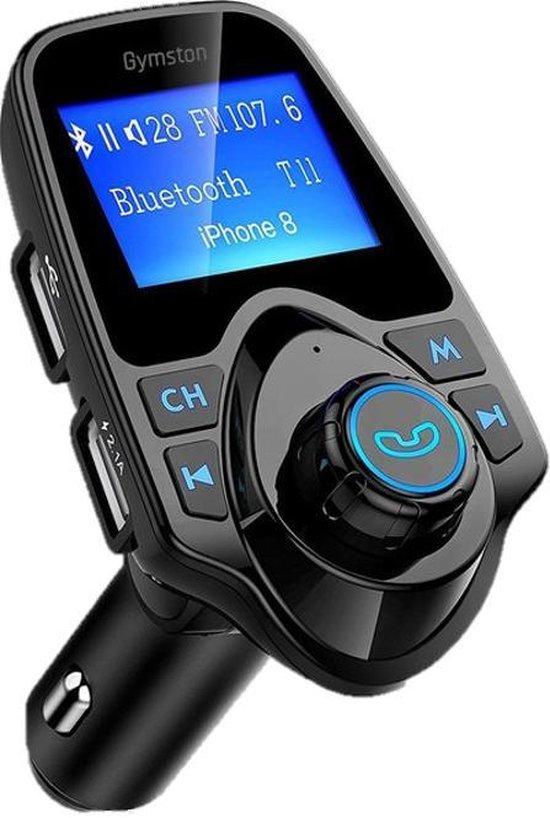 FM Transmitter - Bluetooth - Draadloze Carkit - Zwart