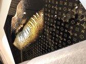 Blackarts Goldenlip LV 90x60 Plexiglas 5mm