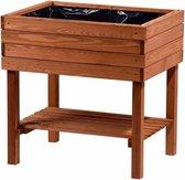 Moestuinbak moestuintafel oppottafel kweektafel plantentafel grenenhout 80x58x80cm - bruin