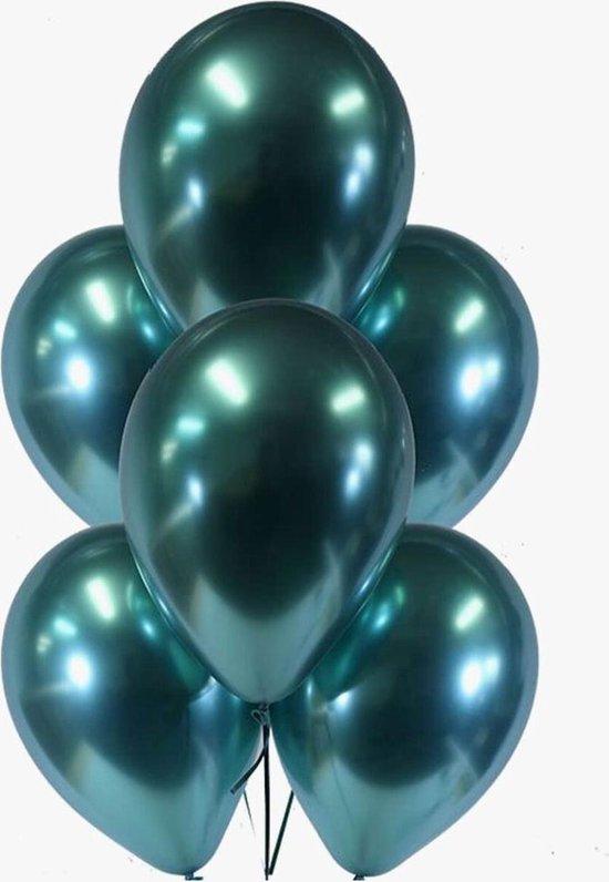 10 Ballonnen Chrome Groen Feest Balonnen Party Metallic - Decoratie - Versiering - Lets Decorate®