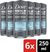 Dove Men Clean Comfort Douchegel - 6 x 250 ml - Voordeelverpakking
