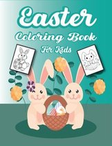 Easter Coloring Book for Kids: Bunnies, Easter Eggs, Rainbows and More! Coloring, Activities and Guessing Games for Children