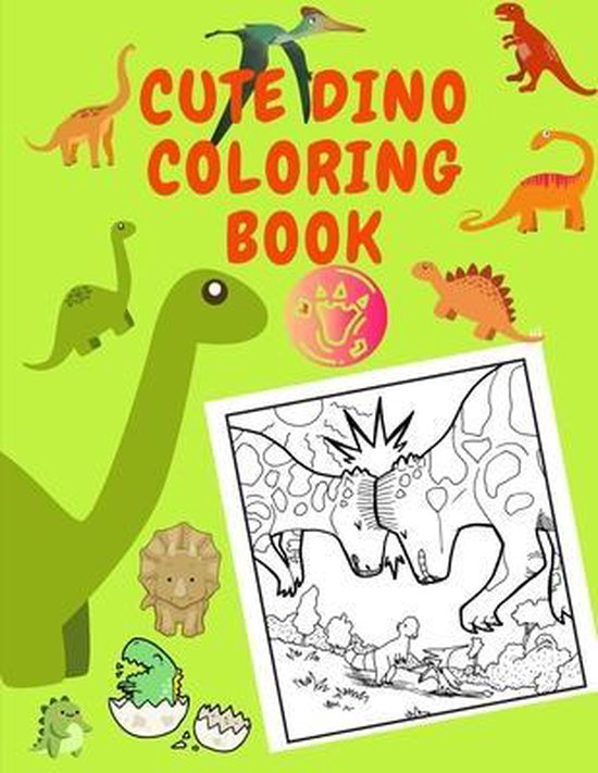 Cute Dino Coloring Book: Perfect Gift