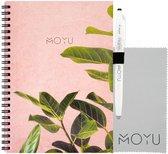 MOYU Ringband A5 (2.0) | Pink Planter | Uitwisbaar & Herschrijfbaar Notitieboek