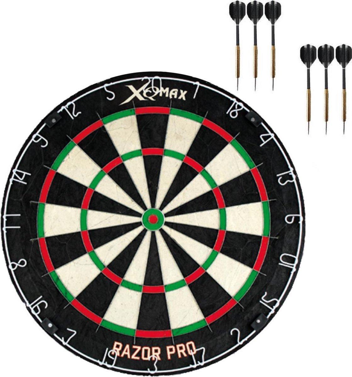 XQ Max Razor PRO + 2 sets dartpijlen - dartset - dartpijlen - dartbord