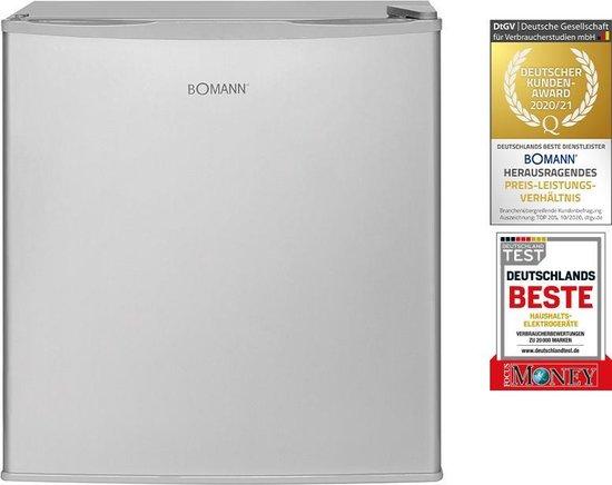 Koelkast: Bomann KB 340 mini koelkast barkoelkast zilver, van het merk Bomann
