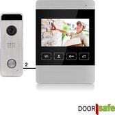 Bedrade deurbel met camera, gratis opslag beelden op SD-kaart - Doorsafe 7120