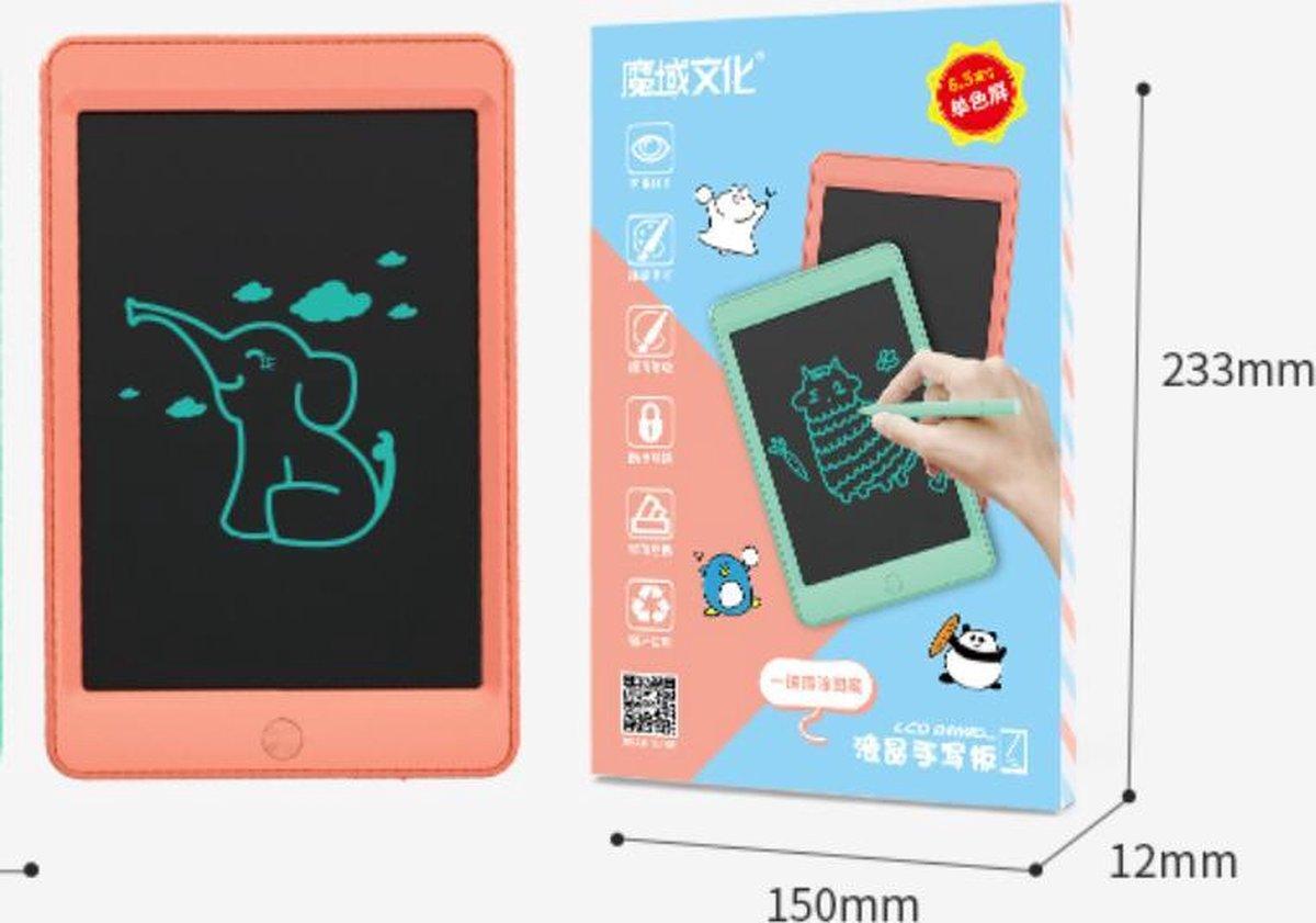 Kinderen LCD Tekenbord Tekentablet MOYU® - Grafische Tablet - Schrijftablet Ontwerppapier Schets Bord- Thuis Onderweg-Zonder Papier- Meloen Oranje Tablet/1 Kleur Tekenen - 8.5inch
