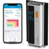 Bloeddrukmeter Hartslagmeter Bloeddrukmeter Bovenarm – Bloeddrukmeter Met ECG Functie en Accurate Metingen – Voor Bloeddruk en Hartslag Inclusief Gratis App - Zwart - Sparxs
