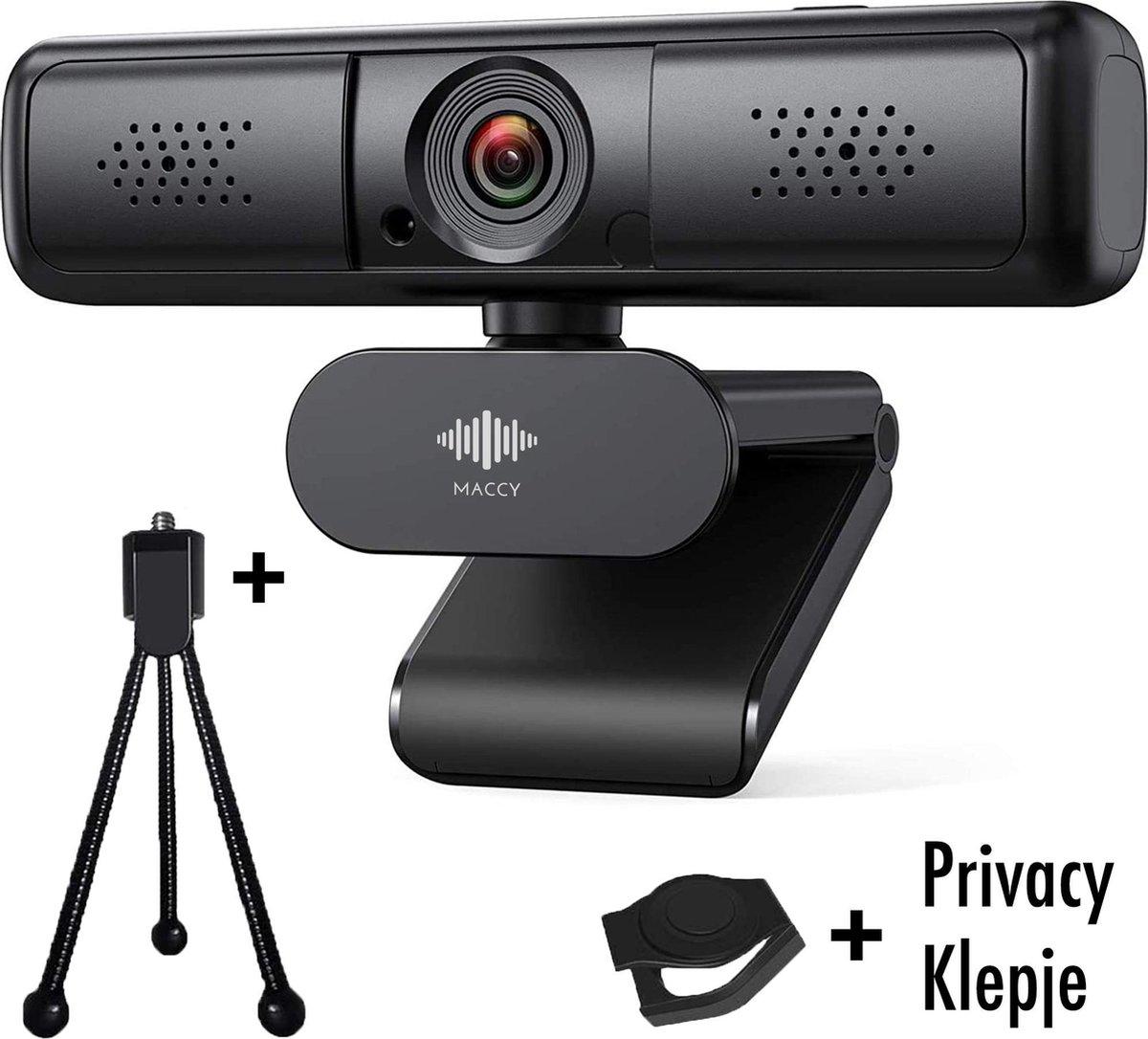 Webcam - 4 MP - Webcam met Microfoon en Tripod! - 2K - 30FPS - 2560x1440 - Webcams - Gaming - Webcam voor PC - Plug&Play - Webcam cover - Laptop Camera - Webcam voor Computer - Windows/IO - Teams - Zoom - USB 2.0 - Werk & thuis