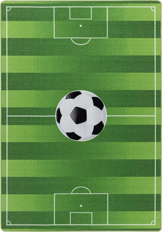 Kinderkamer Vloerkleed Voetbal Laagpolig Groen - 80x120 CM