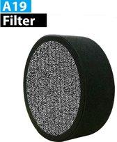 Vibrix A19 luchtreiniger filter - Zwart