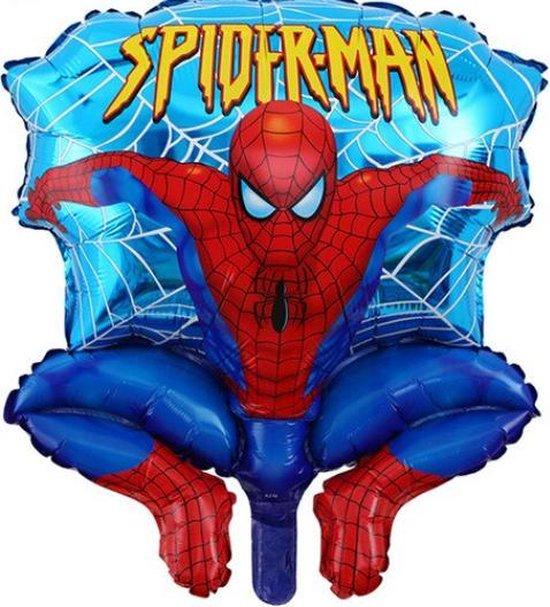 Spiderman ballon - 65x53cm - Folie ballon - Helium - Leeg - Thema feest - Verjaardag - Superheld - Ballonnen - Helium ballon