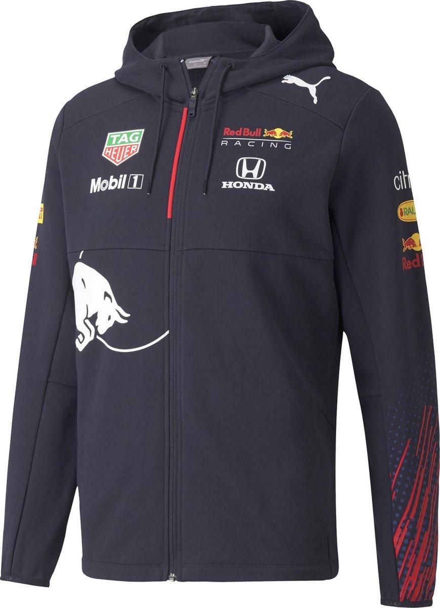 PUMA Red Bull Racing Team Hooded Full-Zip Sportvest Heren - Maat L
