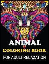 Animal Coloring Book For Adult Relaxation