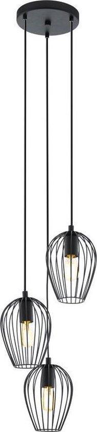 EGLO Newtown Hanglamp - 3 Lichts - Zwart