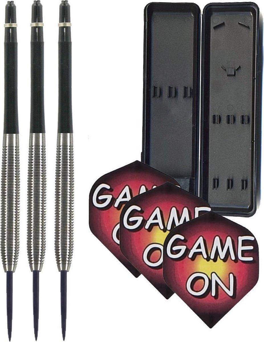 BESTE DARTS- 3 dartpijlen-3 dartshafts-3 dartflights-dartcase-22 gram