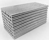 Super sterke magneten - N50 - 5x2 mm - 50 stuks – Neodymium - Magneten klein - Ronde - Zilver - Sterk - Koelkast magneten - Whiteboard magneten - Ronde magneten - Hoogglanzende – Zilverkleurige