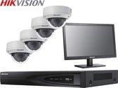 Hikvision - HIK-KITNVR4DOM-001 - IP-kit met 4 IP domecamera's - Met 2TB HDD