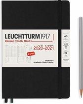 Leuchtturm1917 A5 Medium Academic Week Planner 2020/2021 (18 mnds) hardcover Black