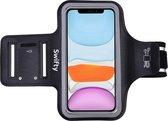 Universele Smartphone Hardloop Armband Zwart/ Sportarmband Hardloopband - Inclusief ruimte voor 2 sl