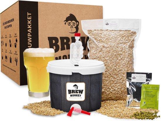 Brew Monkey Bierbrouwpakket - Basis Wit  - Zelf bier brouwen - Bier brouwen startpakket  - origineel cadeau