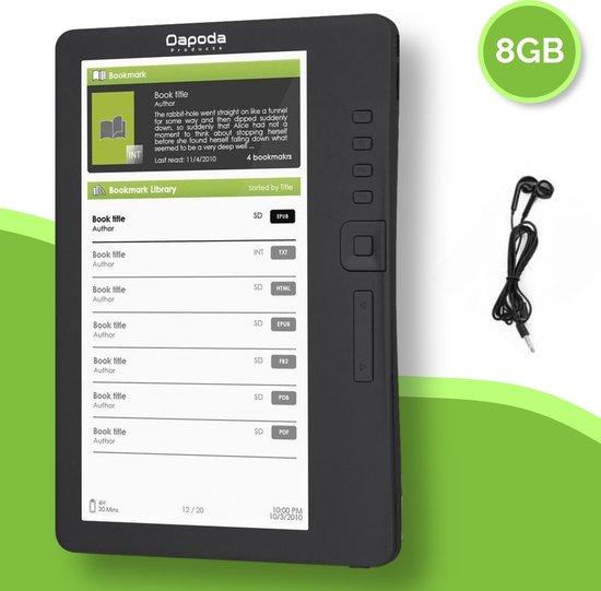 Dapoda® Premium E-Reader met hoesje en oordopjes – 8GB – Groot scherm – Beste Koop