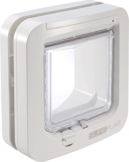 SureFlap Microchip Basismodel - Kattenluik - M - Wit - 14 x 12 cm