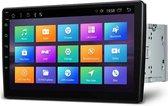 2 Din Universeel 10.1 Android 10.0 Octa-Core Navigatie 16GB ROM + 2GB RAM Draaibaar face-venster 2.5D Gebogen scherm auto DVD-speler