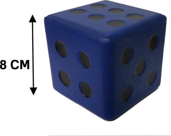 Afbeelding van het spel Dobbelsteen Coated Foam 8 CM BLAUW