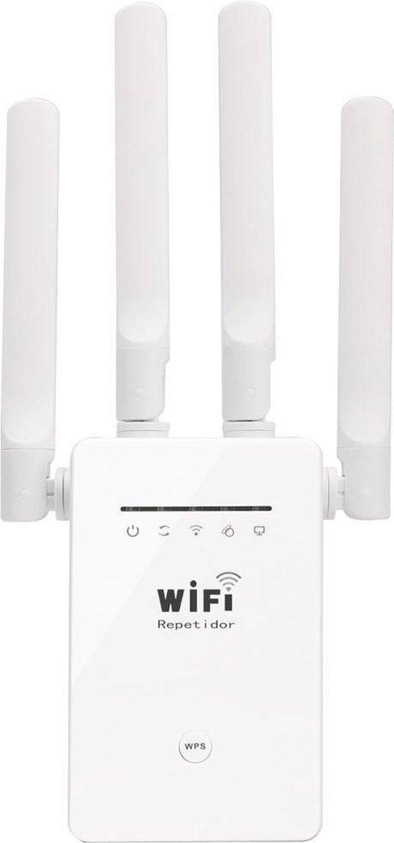 LV-AC-05 Wifiversterker - 1200 Mbps - 2 Ethernet poorten - Wit - voor stopcontacten - Wifi repeater