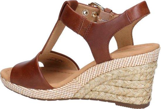 Gabor Comfort sandalen met sleehak cognac - Maat 37 siofsLlO